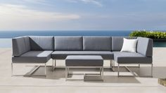 Shop for the Element Seven Ways Outdoor Lounge System and a wide range of Outdoor Modular Lounges. Showrooms in Sydney, Melbourne & Brisbane Outdoor Sofa, Outdoor Wicker Patio Furniture, Outdoor Furniture Design, Outdoor Dining Set, Outdoor Range, Outdoor Furniture Australia, Modular Lounges, Outdoor Restaurant, Brisbane