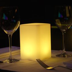 Cylindro is a provocative table light thats changeful as it is dramatic. Its waterproof and rechargeable with 50,000+ hours of battery life and various modes for your preferred ambiance (mix, candle, brightness modes and 56 LED color choices)