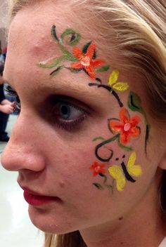 Face Painting - Flower Scrolling Vine
