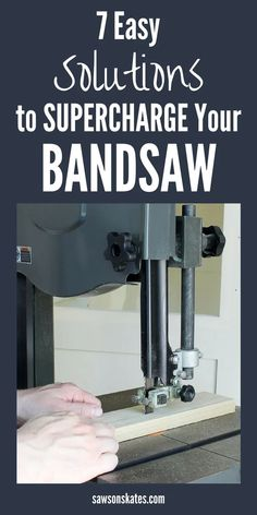 bandsaw is a handy tool when building DIY projects. Looking for ideas to make the most of your band saw? Here are 7 tips and tricks that will supercharge your bandsaw! Woodworking Saws, Woodworking Projects That Sell, Woodworking Store, Learn Woodworking, Woodworking Patterns, Woodworking Workshop, Popular Woodworking, Woodworking Furniture, Woodworking Crafts