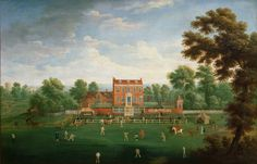 Cricket Match at Kenfield Hall. 18th Century