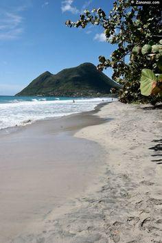 L'anse du Diamant - Martinique. Caribbean beach.