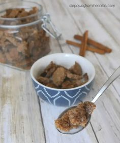 This delicious low carb cinnamon cereal is the perfect way to start the day! An easy breakfast recipe that is sugar free, keto friendly, and gluten free!