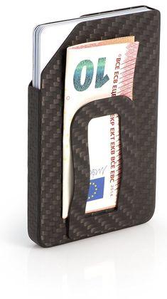 SLIMPURO Ultraleichtes Carbon Etui – ultra kompaktes Kreditkartenetui mit Geldklammer – RFID/NFC Schutz – bis zu 8 Karten – Slim-Wallet aus 100% Kohlefaser - nur 13 Gramm EUR 69,00 Gramm, Magazine Rack, Storage, Home Decor, Carbon Fiber, Cards, Purse Storage, Room Decor, Store