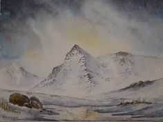 Arctic Mountain water colour by C Walters