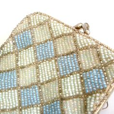 Vintage glass beaded cigarette pouch