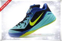706503-073 Nike Hyperdunk 2014 Low Dark Grey/Hyper Turquoise-Volt Mens On Sale