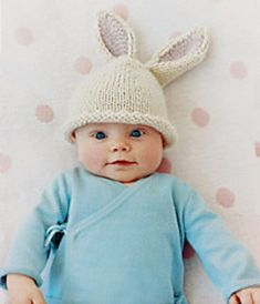 Baby Bunny Beanie - Knitting Pattern