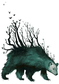 FFFFOUND! | bear is the forest.gif (GIF Image, 600x846 pixels) - Scaled (92%)