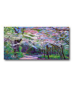 Look at this #zulilyfind! Pastel Walk in the Park Canvas #zulilyfinds