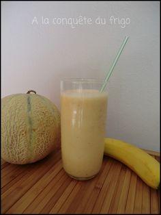 Milkshake melon banane