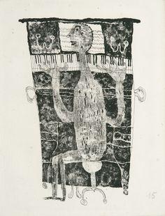 Artwork by Jean Dubuffet, Pianiste (Webel Made of lithograph, on Auverge á la forme Jean Dubuffet, Art Brut, Art Et Illustration, Outsider Art, Recycled Art, Black Art, Painting & Drawing, Printmaking, Folk Art