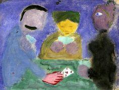 RAGNAR SANDBERG(1902-1972). Figure Scene with Card Players