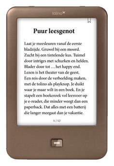 Tolino shine : oogvriendelijk beeldscherm dat leest als een papieren boek. Weegt slechts 190 gram en de batterij gaat wekenlang mee. Ideaal voor op vakantie! Happy End, Personalized Items, Tolino