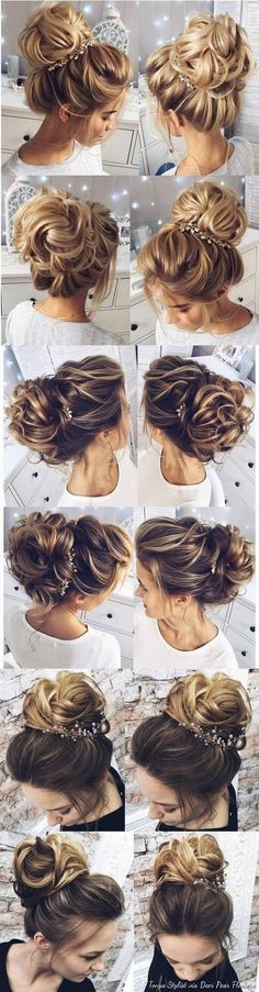 30+ wedding hairstyles for brown hair for 2018 - wedding hairstyles - cuteweddingideas.com