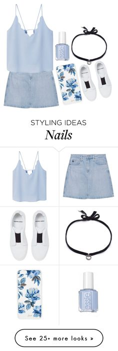 """Baby blue"" by smile-30 on Polyvore featuring AG Adriano Goldschmied, MANGO, DANNIJO, Sonix and Pierre Hardy"