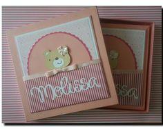 Livro Do Bebê com caixa ursinha fofa www.amornopapel.com.br