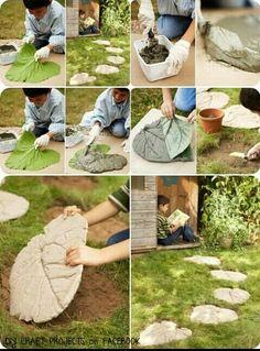 Leaf path stones