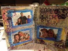 Here's a new Art Journal mixed media page I did - on Beach Fun...  Was so much fun to work with Modeling Paste
