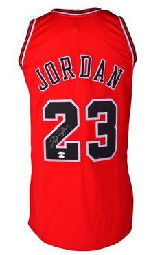 ba662787d Michael Jordan Chicago Bulls Autographed 1997-98 Mitchell   Ness Red Jersey  - Upper Deck