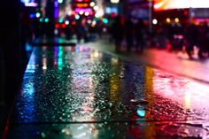 Times Square in the Rain. NYC