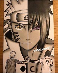 Naruto y Sasuke Naruto And Sasuke, Anime Naruto, Sakura Anime, Naruto Eyes, Naruto Uzumaki Shippuden, Wallpaper Naruto Shippuden, Naruto Art, Gaara, Boruto
