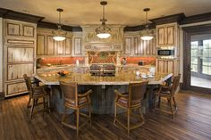 curved kitchen islands with seating | 141,551 octagon kitchen island Home Design Photos