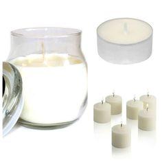 Fresh Linen #ScentedCandles Collection. Glass #jarcandle  #scentedvotivecandles  #scentedtealights #homefragrance