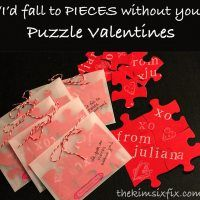 """I'd fall to Pieces without you"" Puzzle Valentine.  Give them the pieces and each puzzle delivers a custom message when they put it together."
