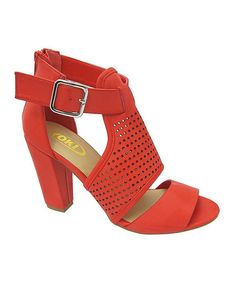 Love this Red Perforated Sandal on #zulily! #zulilyfinds