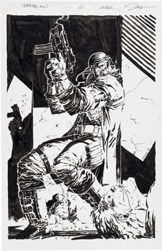 the cover to Deathblow #6 by Jim Lee