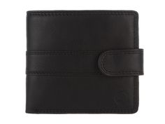 Conkca 'Oscar' Veg-Tanned Black Leather Tri-Fold Wallet   Pure Luxuries