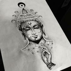 Abstract Tattoo Designs, Ankle Tattoo Designs, Tattoo Design Drawings, Samurai Tattoo Sleeve, Buda Tattoo, Meditation Tattoo, Tattoo Caveira, Buddha Tattoo Design, Black Girls With Tattoos