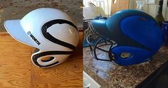 Play ball! Diphead Matt gave his son's baseball helmet a dipping awesome facelift.