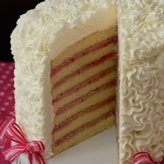 Seven Layer Lemon Cake with Blackberry Buttercream Filling