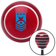 Blue Master Chief Petty Officer of the Navy Red Stripe Shift Knob with M16 x 15 Insert