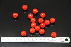 10pcs  red shell pearl half drilled sized 14mm by 3yes on Etsy