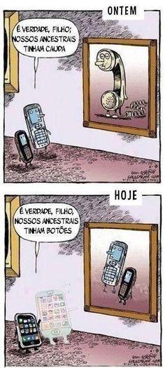 si al pasar de los años la tecnologia a cambiado mucho primero los telefonos tenian cola luego los celulares tenian botones ahora  son tactiles