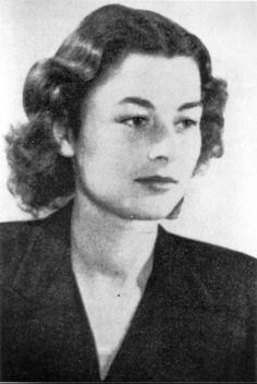 Violette Szabo, British Agent, portrayed by Virginia McKenna in the film 'Carve Her Name with Pride'. I saw this film as a child with my Mum and it made such an impact on me and my interest in history.