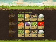 Greenies Website Design by Captovate, Darwin Online Fruits And Vegetables, Darwin, Custom Design, Web Design, Website, Digital, Nature, Design Web, Naturaleza