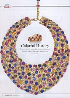 Bulgari Sapphire and Diamond Necklace