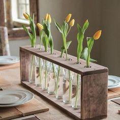 Macetero florero #DIY #manualidades #casa #flores #madera #cristal