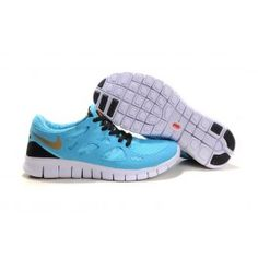 best sneakers 763d5 f23c8 Nye Ankomst Nike Herresko Free Run+ 2 Lysblå Guld Køb Sko   Nike Free Run  Køb