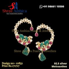 Lavish, high-end classic ear ornaments for the diva in 92.5 silver and pure moissanites. Pick this from Shree Ambica - Your Trusted Jewellers for the upcoming festive/wedding season. Readily available in stock For Price and Details Message on - +919866110500 #ShreeAmbica #TrustedJewellers #SilverJewellery #kundanjewellery #jadaujewellery #polkijewellery #uncutdiamondjewellery #indianbride #indianwedding #jewelryaddict #handcraftedjewellery #finejewellery #weddingsutra #jewelryforsale Silver Jewellery, Fine Jewelry, Wedding Sutra, Uncut Diamond, Jewellery Designs, Wedding Season, Handcrafted Jewelry, Festive, Diva