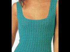 Patrón para tejer vestido escote cuadrado a crochet - YouTube