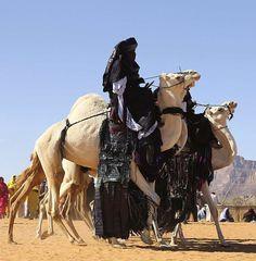 Africa | Tuareg on their camels.   19th annual Ghat Festival, Libya | ©Esam Omran Al-Fetori/Reuters