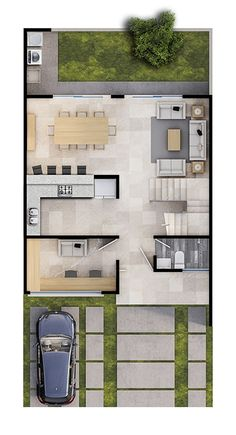 Best Small House Designs, Best Modern House Design, Living Room Floor Plans, House Floor Plans, House Construction Plan, Model House Plan, Plans Architecture, Villa Plan, Long House