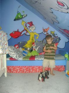 Dr Seussery :) We Used Ikea Furniture And Lots Of Seuss Murals ( I Painted