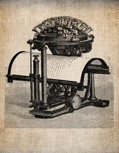 Steampunk Victorian Letter Press Digital Download for Papercrafts, Transfer, Pillows, etc Burlap No. 1213. $1.00, via Etsy.