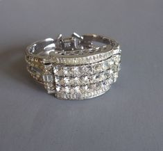 CORO 1953 brilliant clear rhinestones bracelet from Morning Glory Jewelry. Buy now for $398.00